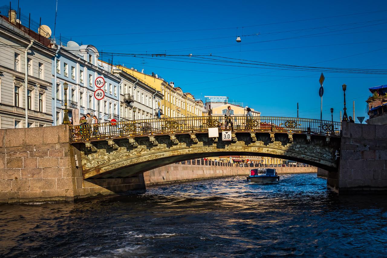 Bridge on the Fontanka River waiting repairs