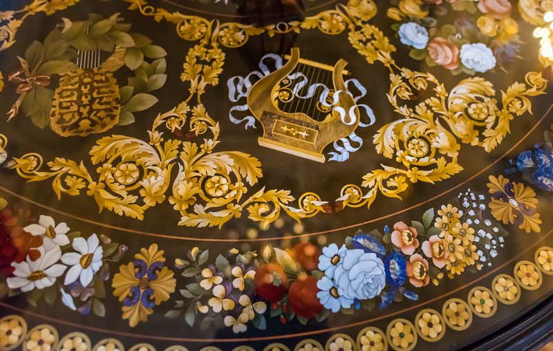 Hand painted table top. The State Hermitage