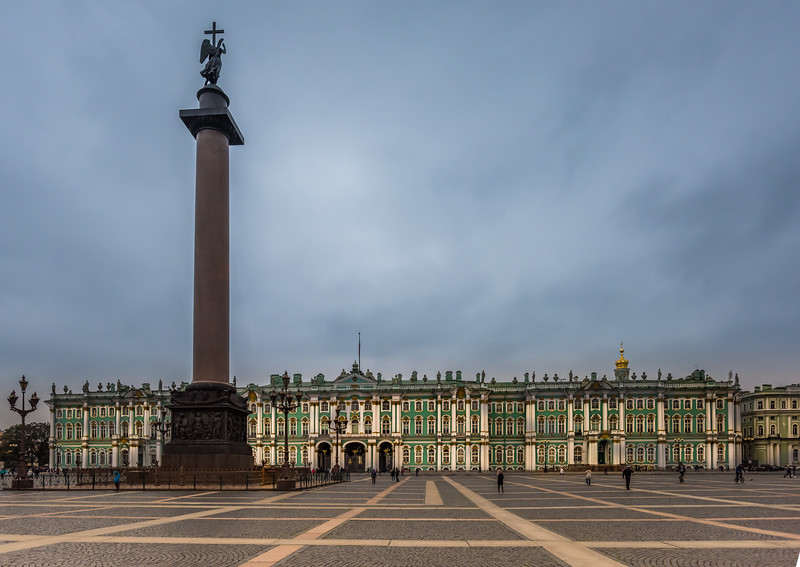 Alexander Column, Palace Square  and Hermitage Museum
