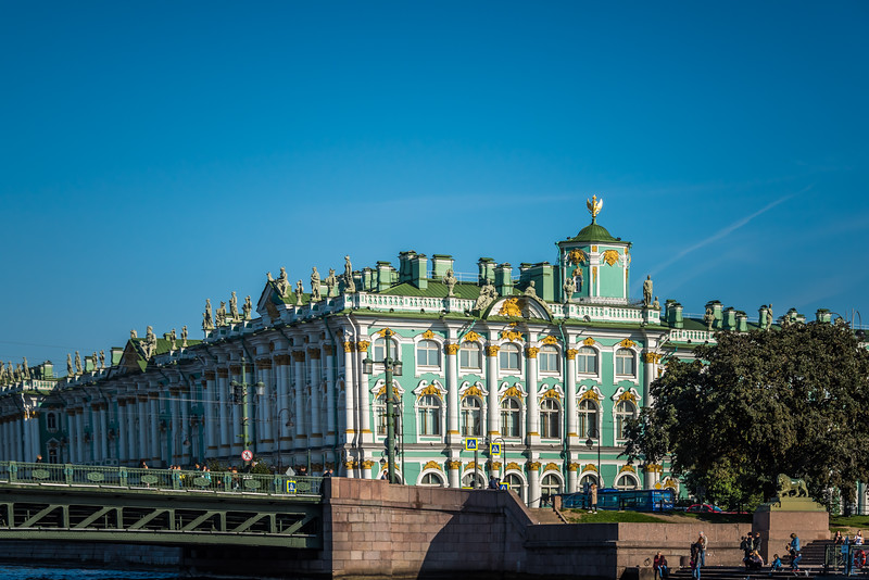 Hermitage Museum from the Neva River - circa 1764
