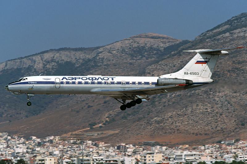 RA-65103 Tupolev Tu-13A-3 c/n 60297 Athens-Hellenikon/LGAT/ATH 20-09-00 (35mm slide)