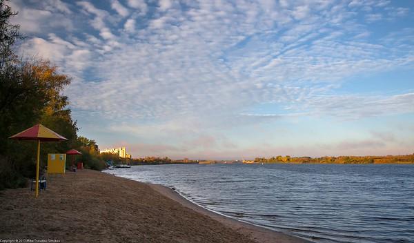 Dubna. The Volga beach