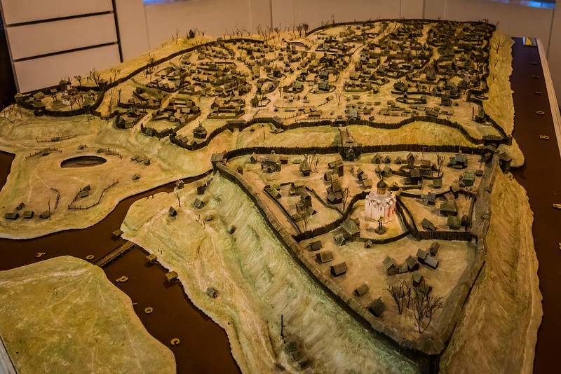 Model of Early Yaroslav with the Kremlin