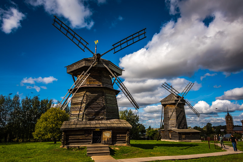 Windmills at Museum of Wooden Ardchitecture and Peasant Life