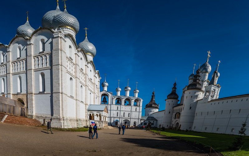 Courtyard Kremlin Churches - Rostov