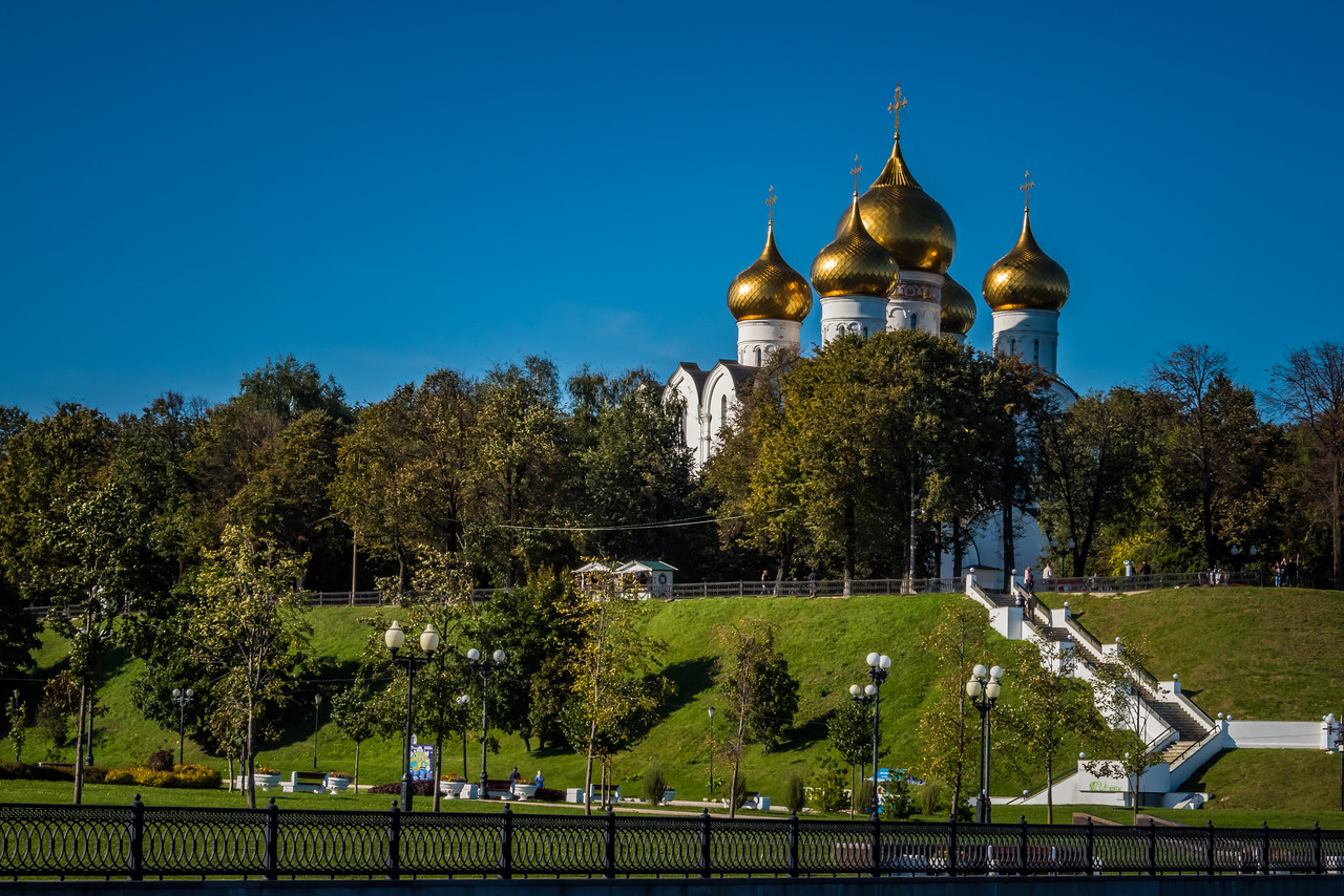Yaroslavl Cathedral  from River Volga