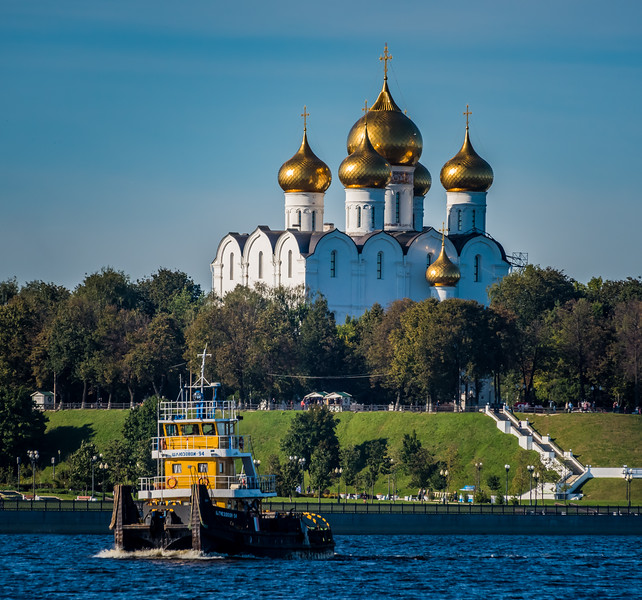 Yaroslavl Cathedral  from the River Volga