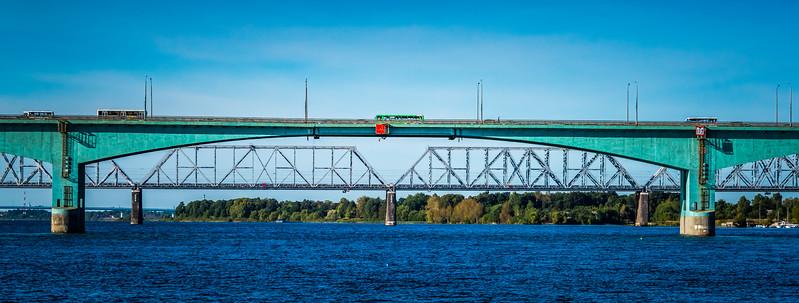 Crossing the Historic River Volga