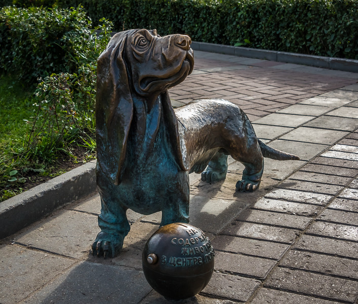 Monument to the Dog. - Sobaka-Kopilka - Kostroma Russia