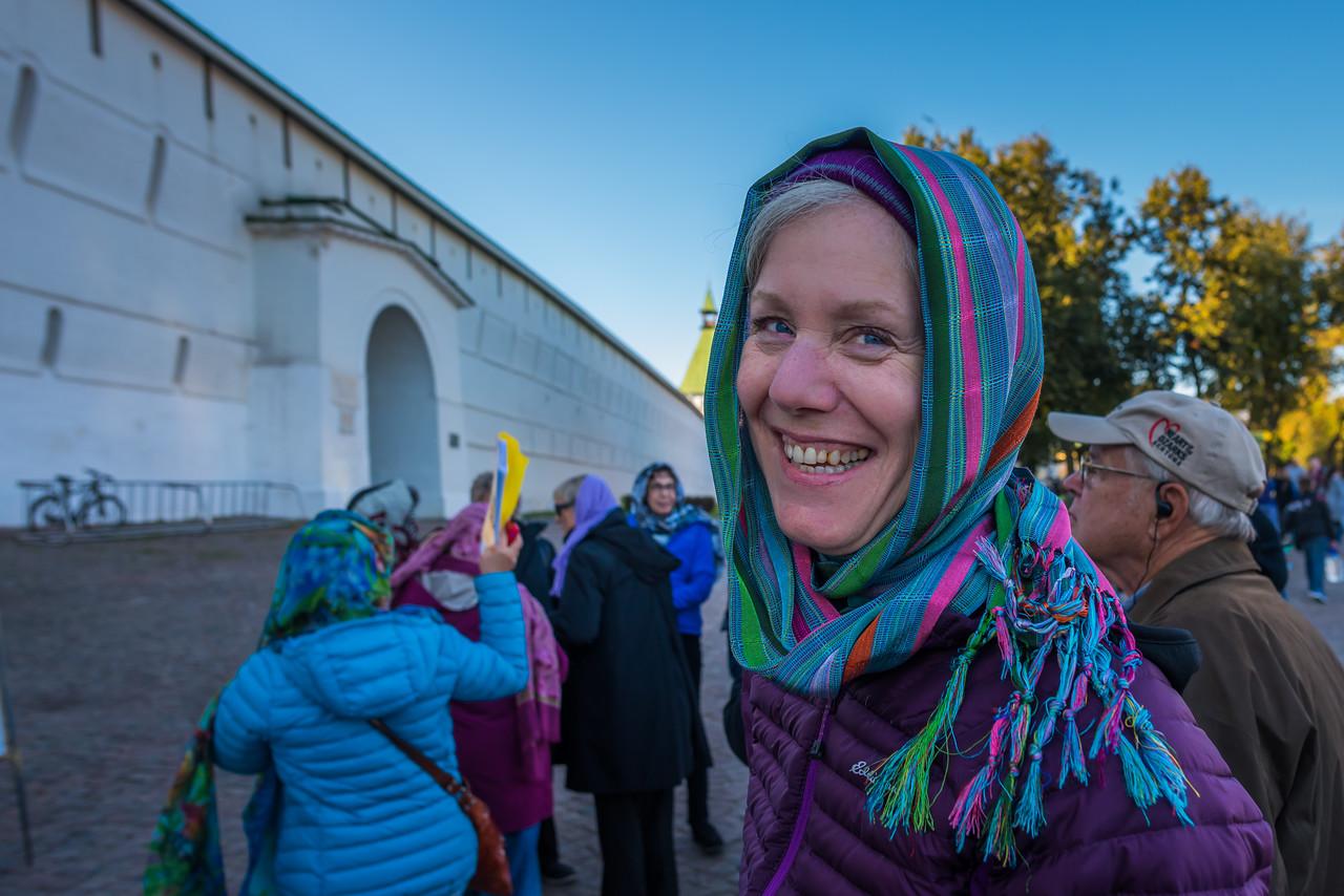 Entering Unesco Monastery at Sergiev Posad