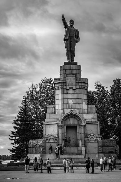 Statue of Lennin, Central Park- Kostroma Russia