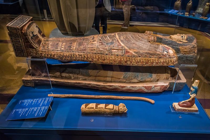 Coffin & Mummy of Hor-Kha - Circa ~500 BCE