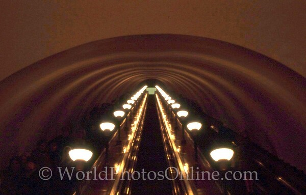 Moscow - Subway - Escalator to Subway