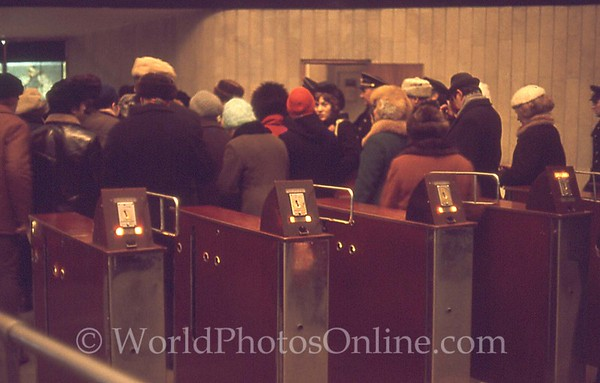 Moscow - Subway - Entry Turnstiles