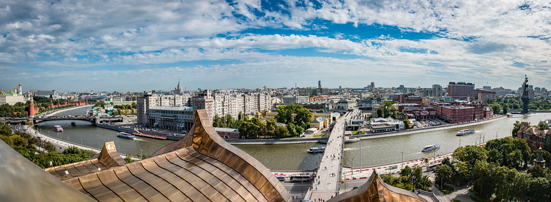 View of Moscow from Cathedral of Christ the Saviour