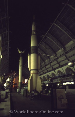 Moscow - Soviet Aerospace Museum - Rocket 2