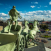 Quadriga by Peter Clodt von Jurgensburg on top of Bolshoi