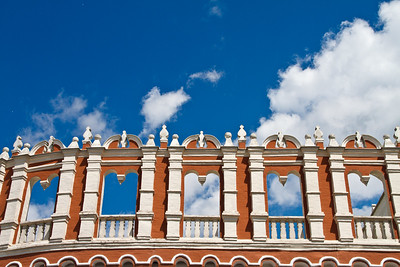 Top of the gate of the entrance of the Kremlin.
