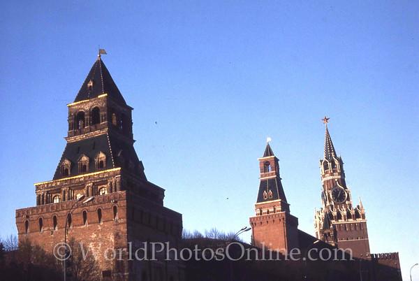 Moscow - Kremlin - Looking North toward Spasskaya Tower