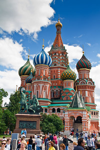 Life scene around the Saint Basil's Cathedral.