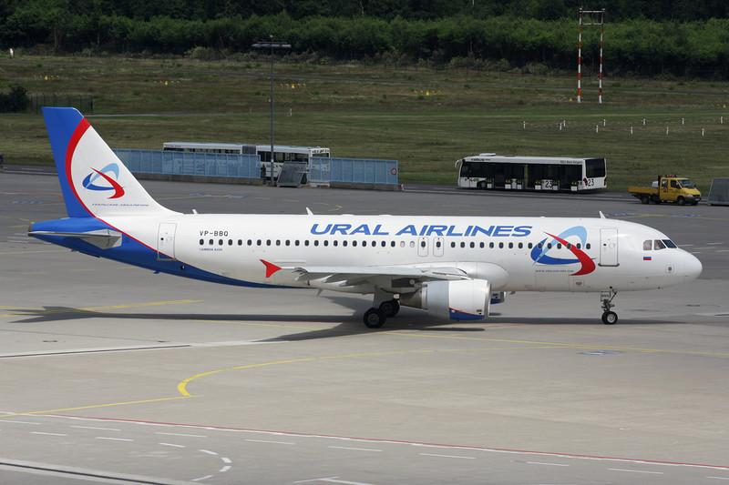 "VP-BBQ Airbus A320-214 ""Ural Airlines"" c/n 2278 Cologne/EDDK/CGN 09-07-12"