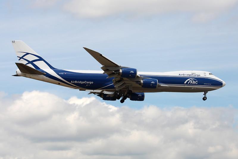 "VQ-BGZ Boeing 747-8HVF ""Air Bridge Cargo"" c/n 37580 Frankfurt/EDDF/FRA 26-06-14"