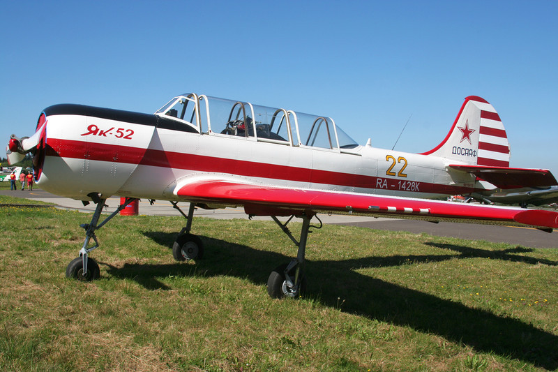 RA-1428K (22 yellow) Yakovlev Yak-52 c/n 9010410 Spa-La Sauveniere/EBSP 05-08-07