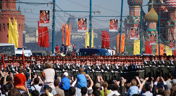 Victory Day Parade with the Kremlin in the background