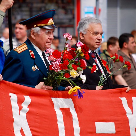 Parade of Communists following the Victory Day parade