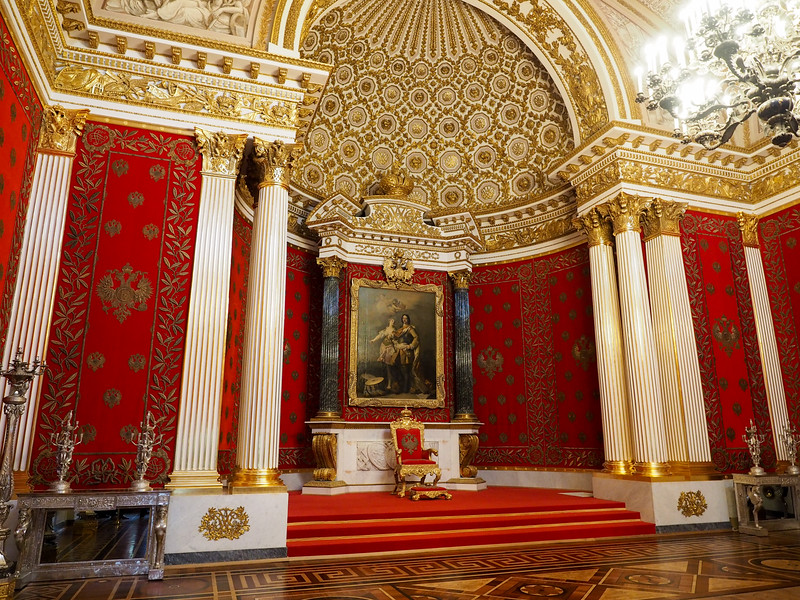 Throne Room in The Hermitage Museum in St. Petersburg