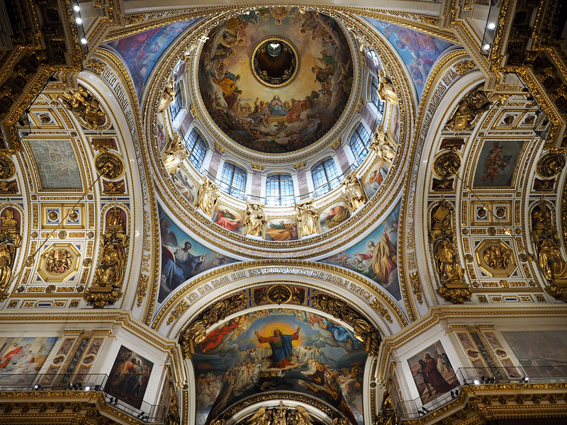Inside Saint Isaac's Cathedral in St. Petersburg