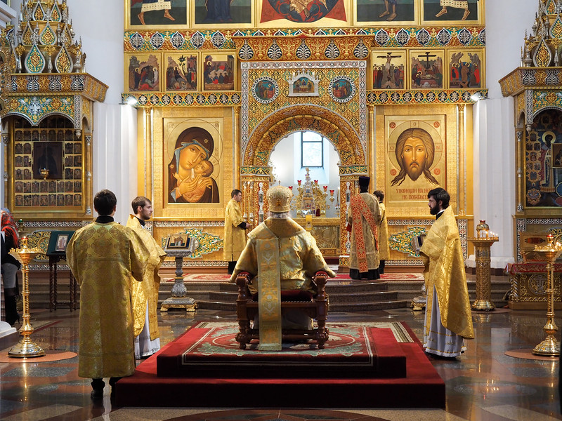 Inside a Russian Orthodox church in Yaroslavl