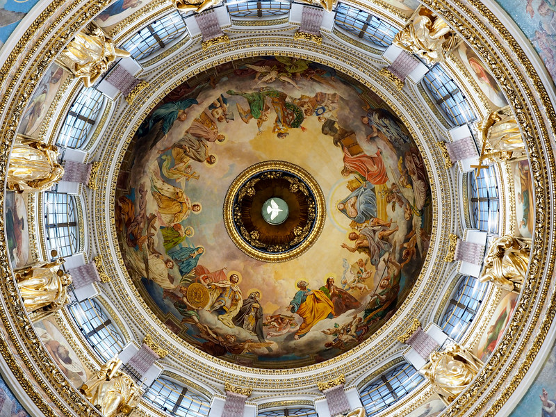 Saint Isaac's Cathedral dome in St. Petersburg