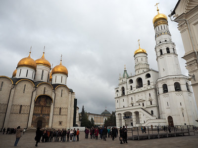 Cathedral Square in the Kremlin in Moscow