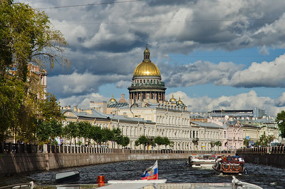 St Isaac's Cathedral, Views from the canals, St Petersburg