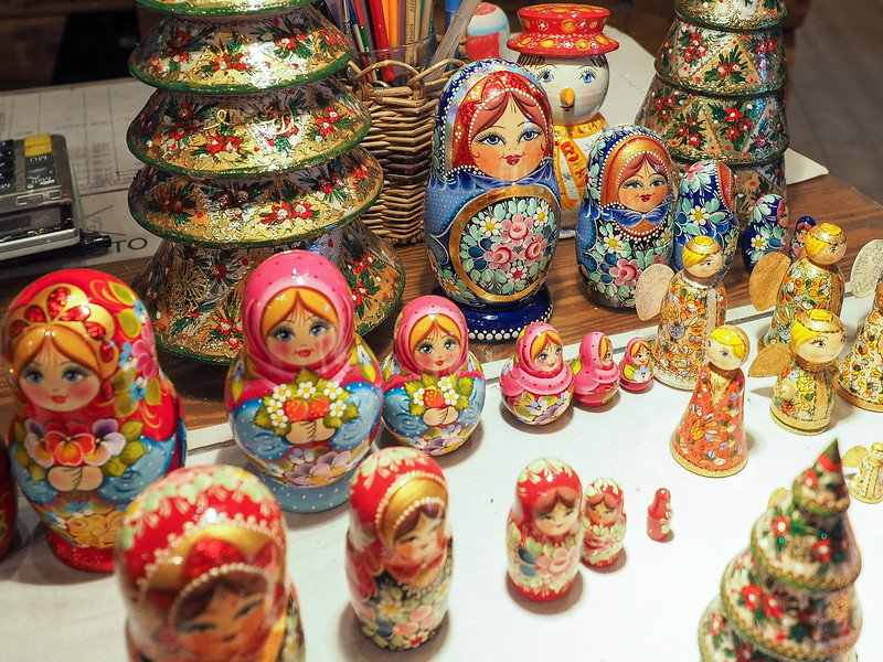 Matryoshka dolls in Mandrogy, Russia
