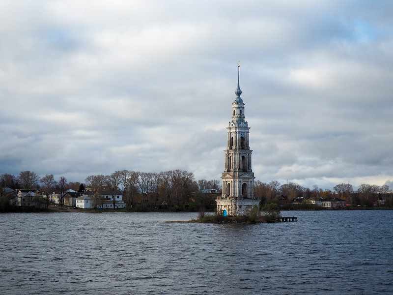 Kalyazin Bell Tower in the Volga River