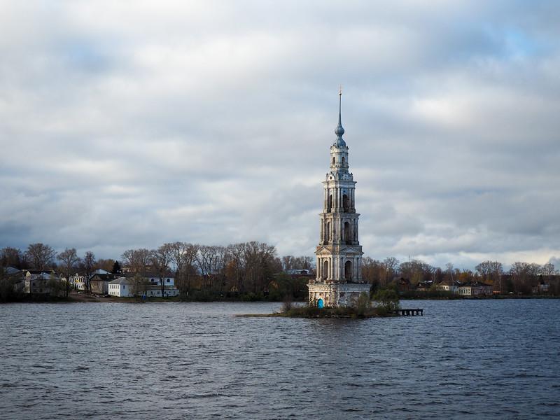 Kalyazin Bell Tower in the Volga River