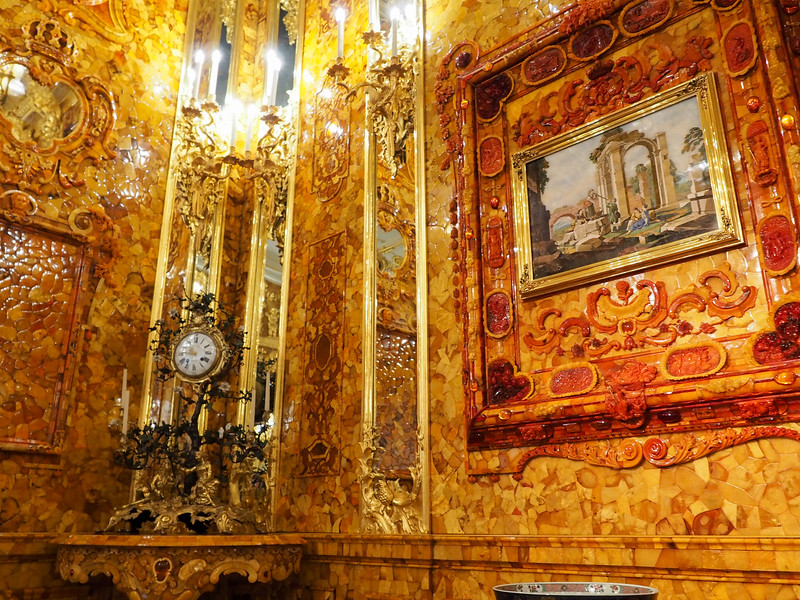 The Amber Room in Catherine Palace