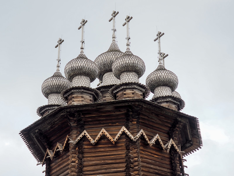Wooden onion domes at Kizhi Pogost