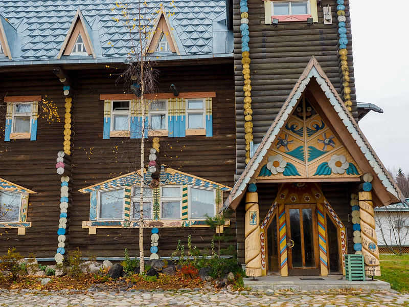Architecture in Mandrogy, Russia