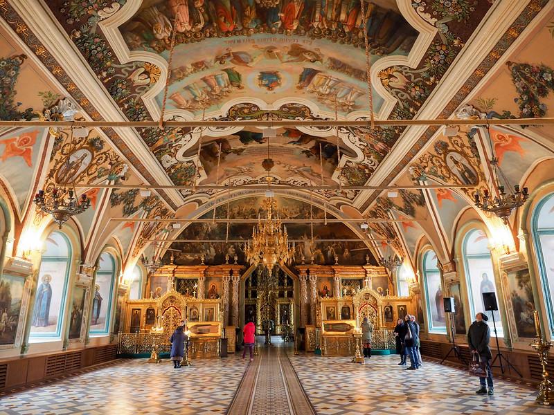 Inside the Refectory Church at Troitse-Sergiev Monastery