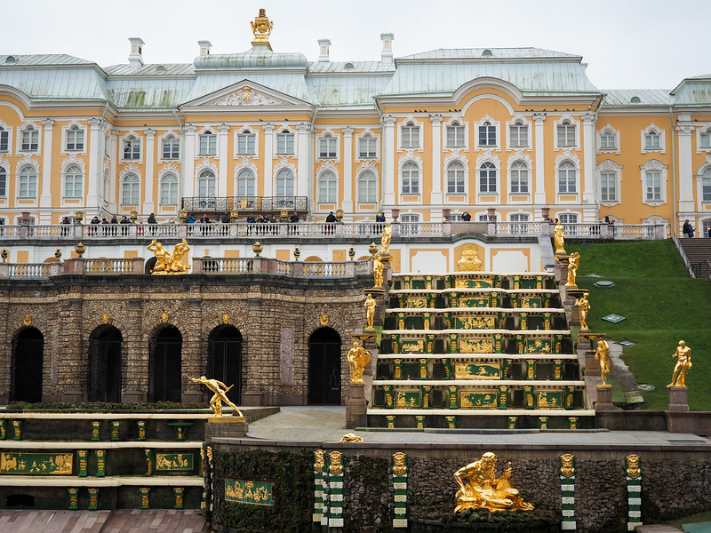 Peterhof Palace fountains in winter