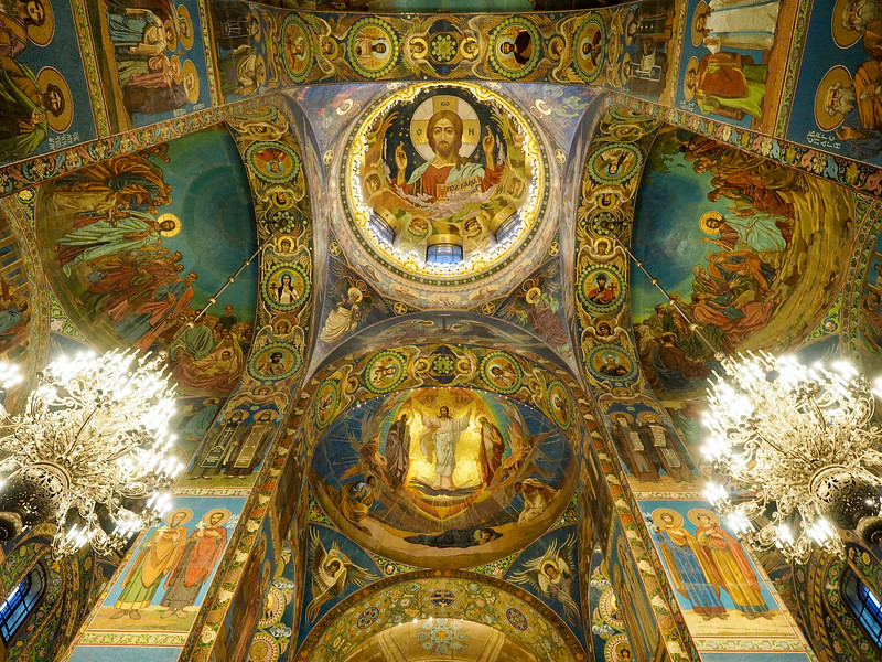 Inside the Church of Our Savior on the Spilled Blood in St. Petersburg