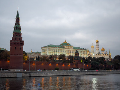 Kremlin in Moscow at dusk