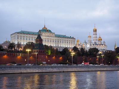 Moscow Kremlin at dusk