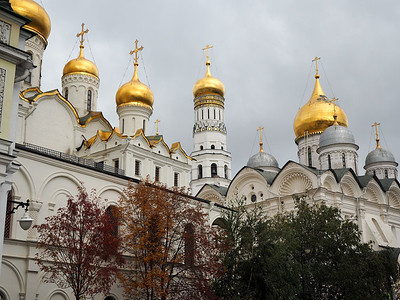Domes of the Kremlin in Moscow