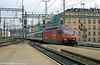 SBB 460 021 rolls into Geneva Cornavin in August 1995.