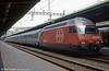 460 031 at Geneva Cornavin with a train of Italian (FS) coaches in August 1995.