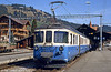 MOB 4001 series two-car set, dating from 1968 against a traditional Swiss backdrop at Zweissimmen on 24th April 1992.